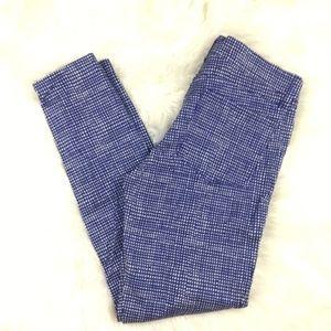 J. Crew Women pants Basket Weave Print Ankle 29